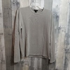 Express Light Grey Long Sleeve Crew Neck Thermal